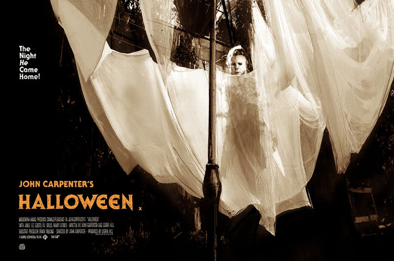 This Halloween poster by Jock is one of many amazing posters artists have made for the film.