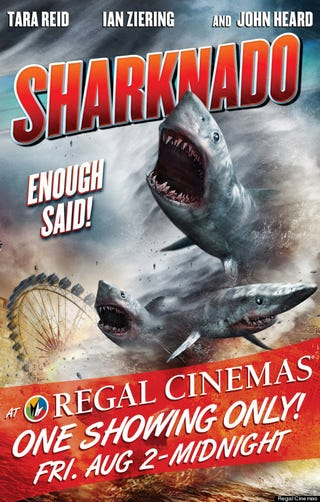 Illustration for article titled So, Sharknado...IN THEATRES!!!