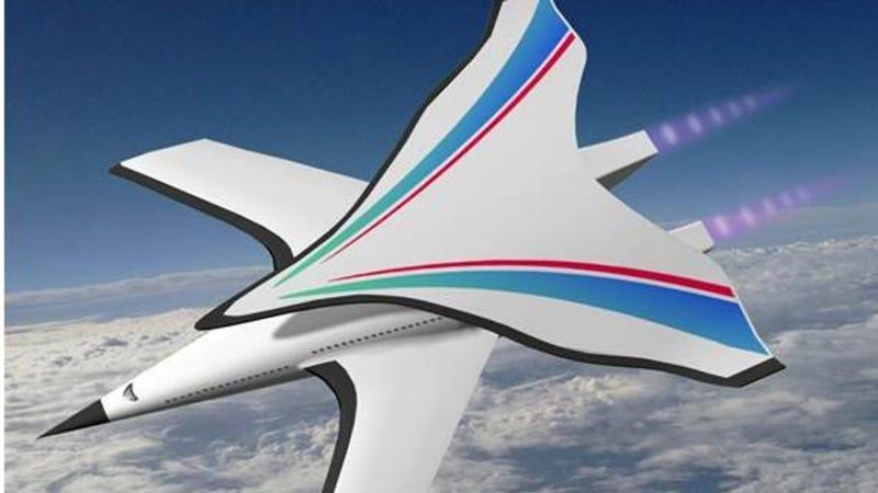 Illustration for article titled El nuevo avión hipersónico de China podría hacer la ruta Beijing-Nueva York en 2 horas