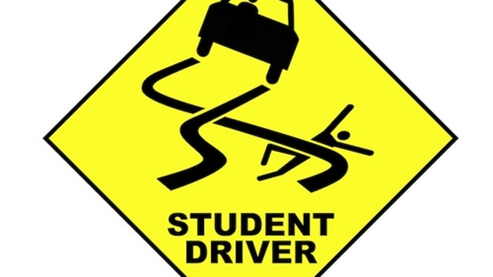 This is an image of Persnickety Student Driver Sign Printable
