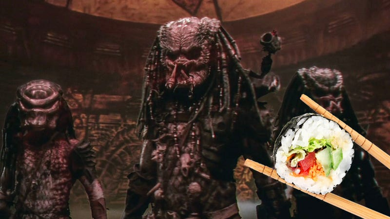 Illustration for article titled I Can't Stop Thinking About How the Predator Would Eat Sushi