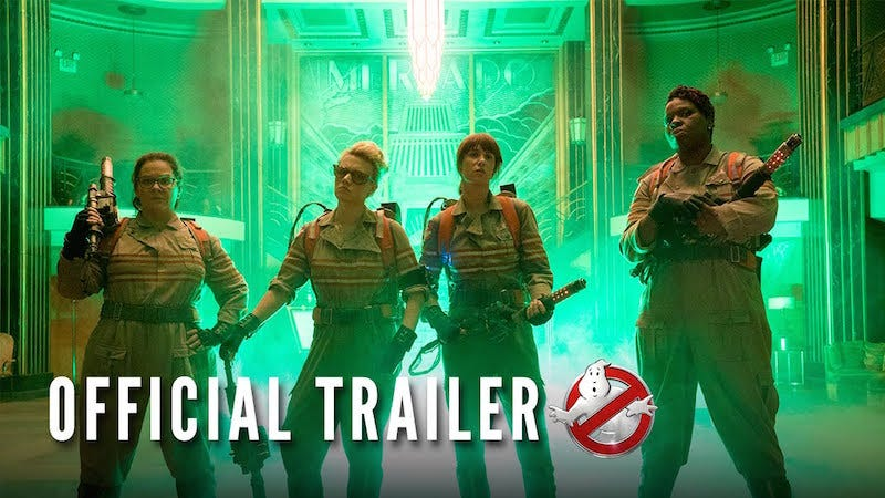 Illustration for article titled The Ghostbusters Trailer is the Most Disliked Movie Trailer in YouTube History