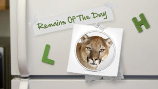 Illustration for article titled Remains of the Day: Your Older MacBook Won't Run Mountain Lion
