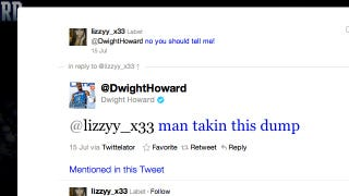 Illustration for article titled Dwight Howard Tweeted About His Dump To Some Young Lady