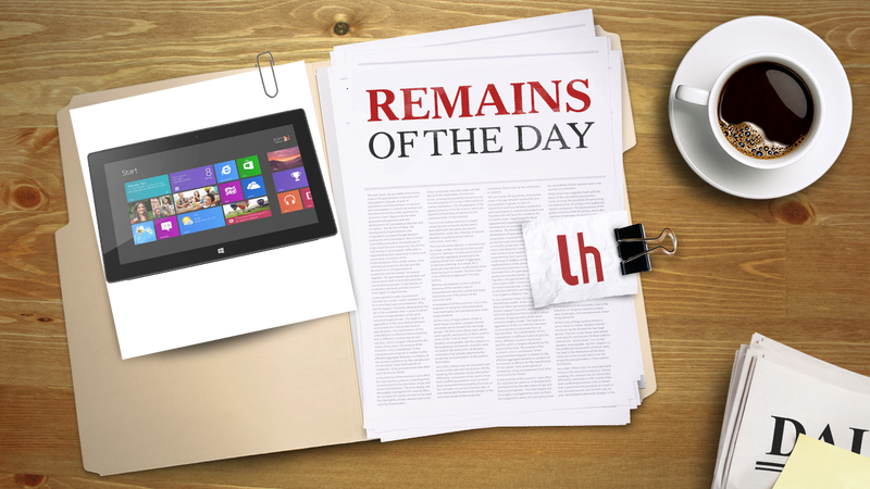 Illustration for article titled Remains of the Day: Microsoft Surface Pro Finally Gets a Release Date