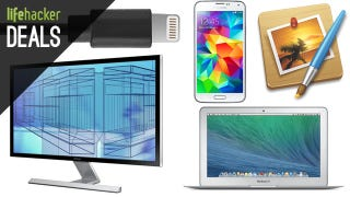 Illustration for article titled Deals: Samsung 4K Display, Pixelmator, 1TB SSD, Apple Gear Galore