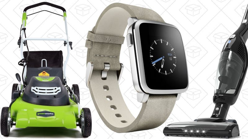 Illustration for article titled Today's Best Deals: GreenWorks Tools, Pebble Time Steel, Anker HomeVac, and More