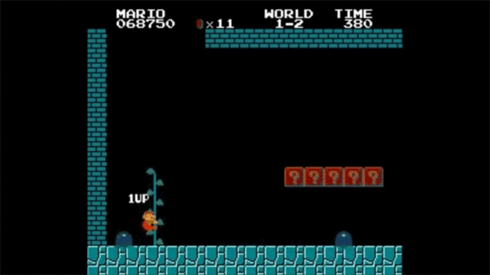 Descubren nuevo truco para obtener vidas infinitas en Super Mario Bros