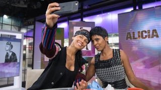 Singer Alicia Keys with Tamron Hall on the Today show Sept. 1, 2016 (Nathan R. Congleton/Today)