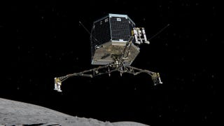 Illustration for article titled Rosetta's Lander Is Now Asleep on the Comet, Waiting For a Brighter Sun