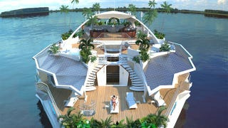 Illustration for article titled These Solar-Powered, Floating Island Homes Are a Millionaire's Private Paradise