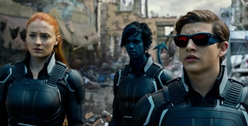 Sophie Turner, Kodi Smit-McPhee and Tye Sheridan in X-Men Apocalypse. Image: Fox