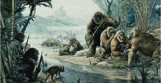 Illustration for article titled What killed off the world's largest apes?