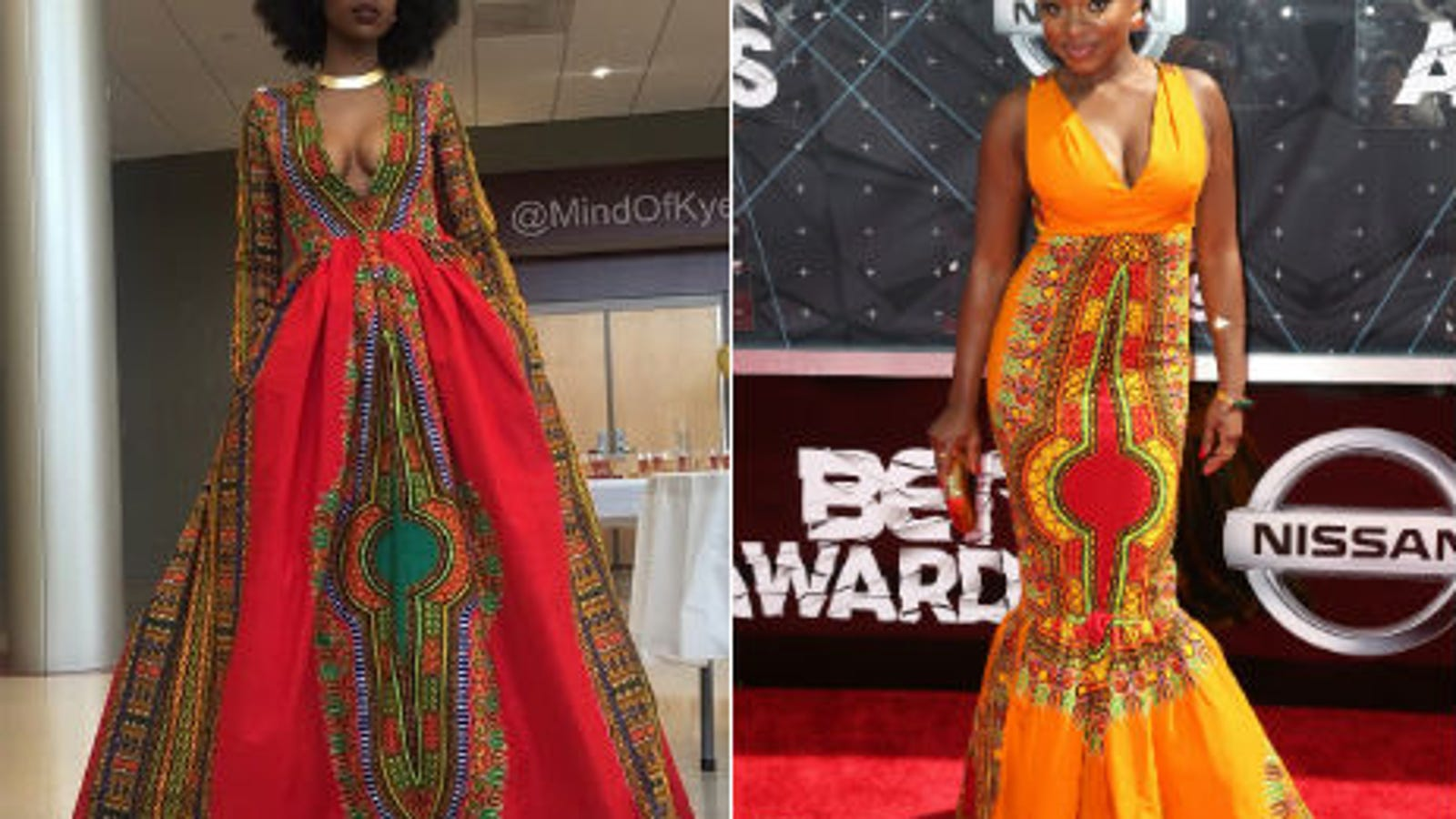 4c1833bc5a8 The Teen Who Designed Her African-Print Prom Dress Whipped Up a Dress for  Naturi Naughton to Wear at the BET Awards
