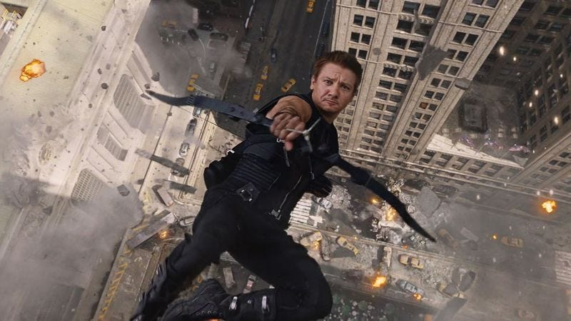 Illustration for article titled Jeremy Renner not-so-subtly suggests Hawkeye is part of Captain America 3
