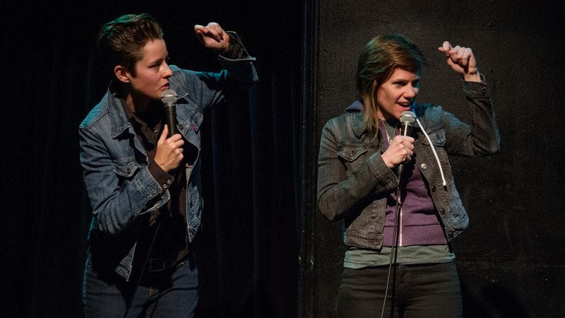 Rhea Butcher and Cameron Esposito.