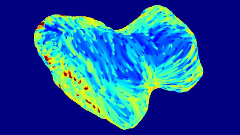 Illustration for article titled Here's Our First Glimpse of the Rosetta Comet's Dark Side