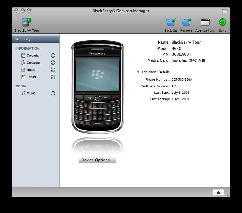 Illustration for article titled At Long Last, BlackBerry Desktop Comes to Mac