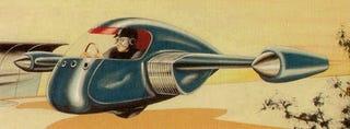Illustration for article titled Gyroscopic Rocket Car (1945)