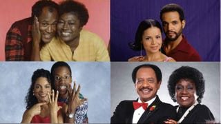 Top row: Good Times; Young and the Restless. Bottom row: A Different World; The Jeffersons.IMDb