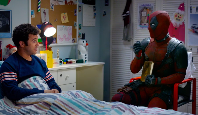 Fred Savage and Deadpool, just hangin' out.