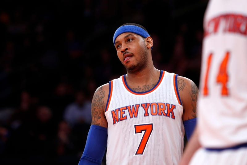 """Illustration for article titled Carmelo Anthony """"Getting Close"""" To Sitting Out The Rest Of The Year"""