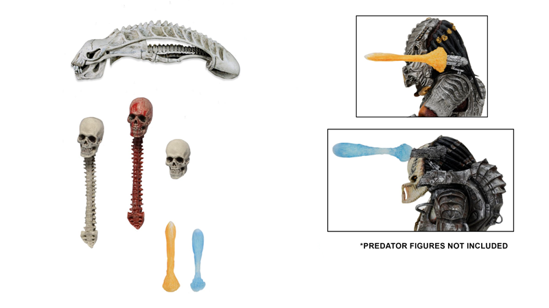 Illustration for article titled Amazingly Gross Predator Toy Accessory Pack Comes With Bloodied Bones and a Skinned Human
