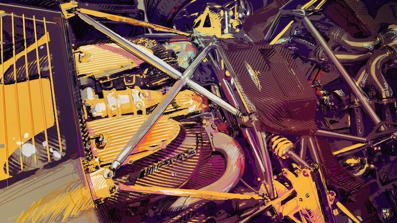 Illustration for article titled Car Art Friday: The Pagani Huayra AMG V12