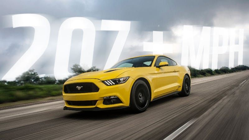 Illustration for article titled Hennessey Made The First 2015 Mustang To Break 200 MPH