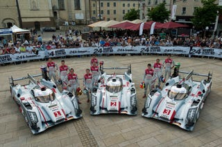 Illustration for article titled Audi Paces Qualifying 1 At Le Mans, American Entries Struggle