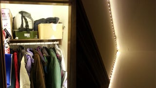 Mounting Lights In A Small Closet Can Be A Hassle. Reddit User Kavisiegel  Suggests Adding Rope Lights Inside The Door Frame With An Automatic Switch  To Make ...