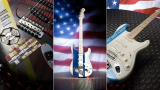 Illustration for article titled Fender's Custom One-of-a-Kind Strats Provide Subtle Hat Tip for 9/11 Anniversary