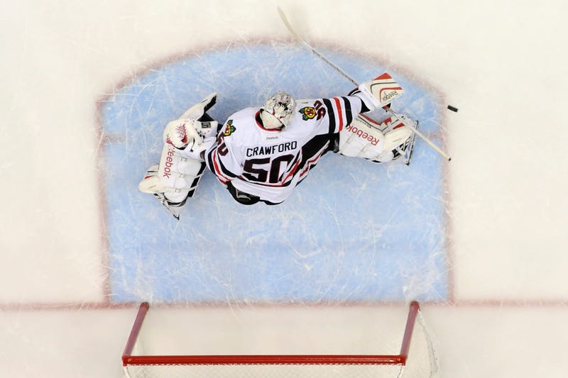 Illustration for article titled Corey Crawford Is Getting It Together