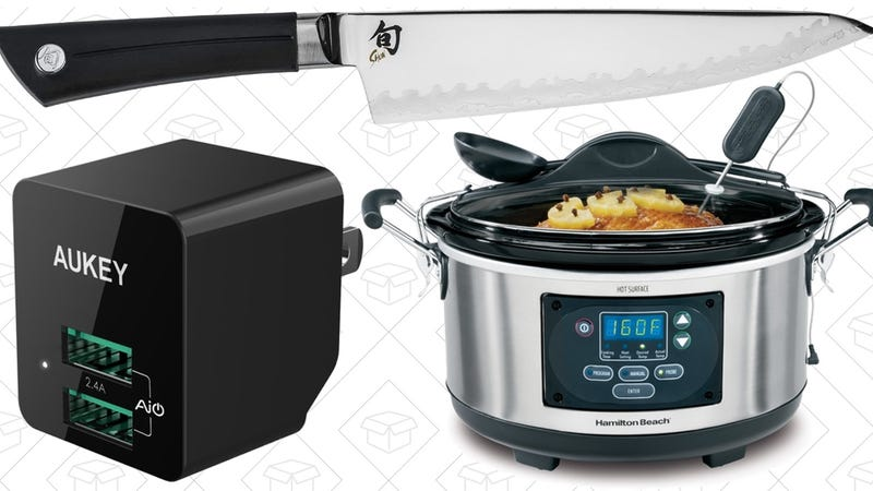 Illustration for article titled Today's Best Deals: Shun Knife, Smarter Slow Cooker, Tiny USB Charger, and More