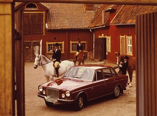 Illustration for article titled Volvo Luxury Is All About Swedish Women On Horses