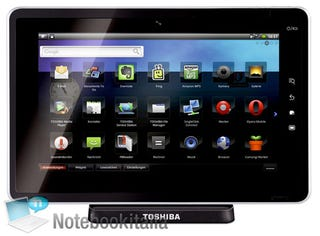 Illustration for article titled Toshiba SmartPad's Specs Leak, Runs Android 2.2 And Is Supposedly Called The Folio 100