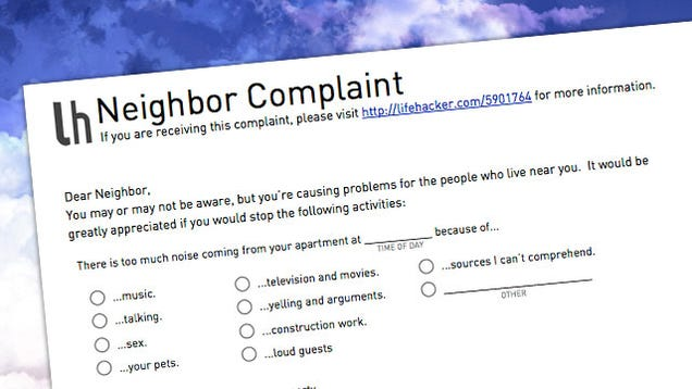 Let Your Annoying Neighbors Know How You Feel with This Simple ...