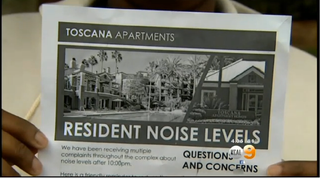 A flier distributed at an Irvine, Calif., apartment complex urges black residents to keep the noise down after 10 p.m.CBS Los Angeles