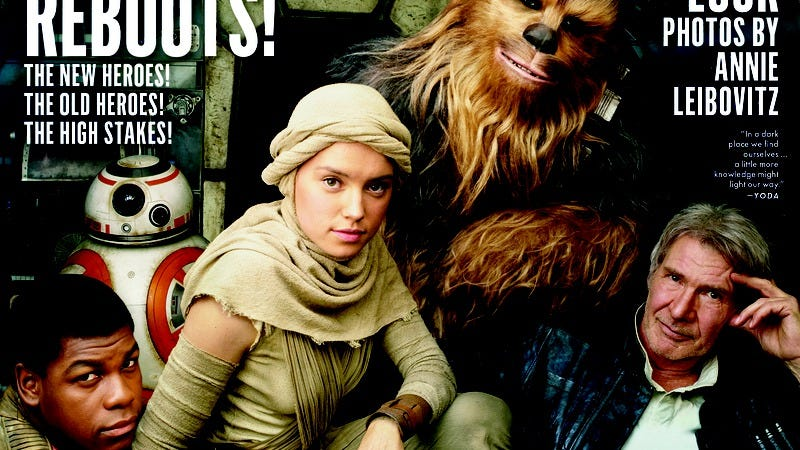Illustration for article titled New Star Wars photos feature evil Adam Driver and dot-covered Lupita Nyong'o