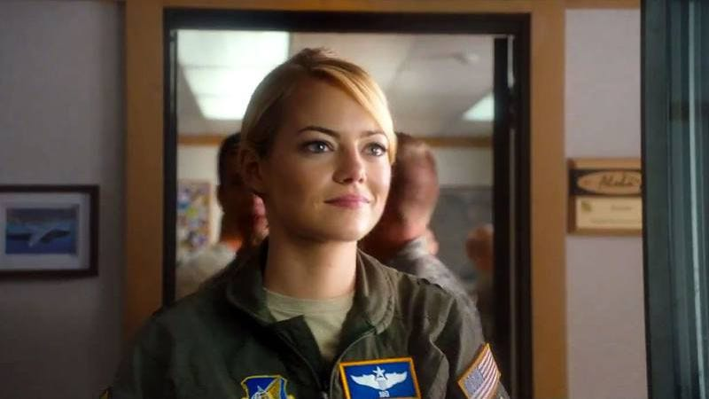 Emma Stone in Aloha, acting part-Asian
