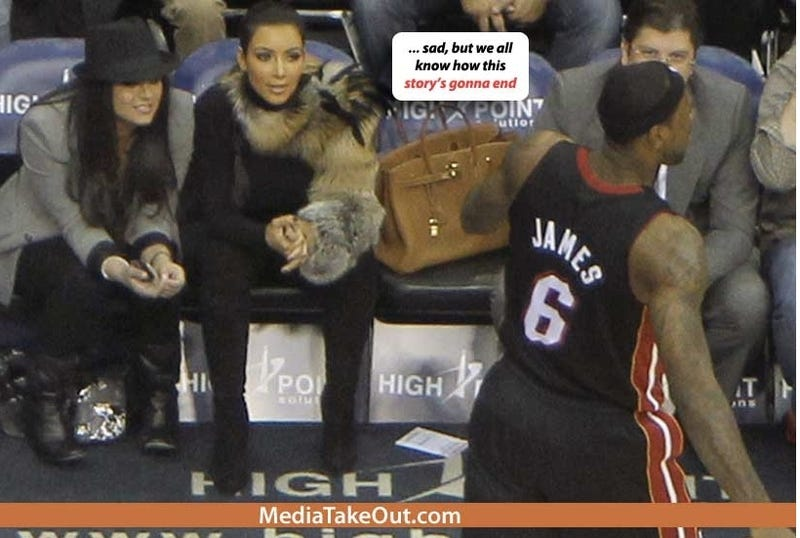 a2e25048a3da Illustration for article titled LeBron James Admonishes Media Take Out For Kim  Kardashian Rumor