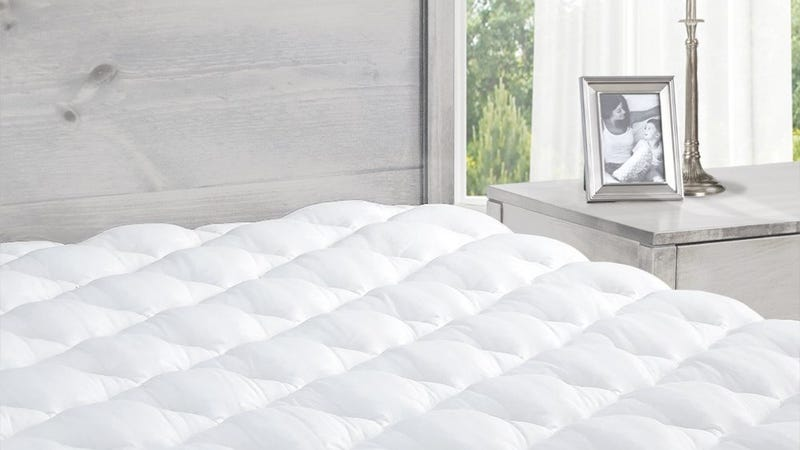 Pillowtop Mattress Pad with Fitted Skirt, $59-78