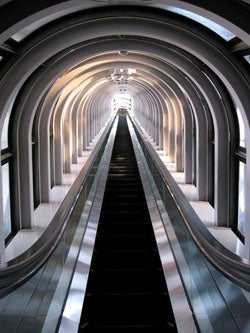 Illustration for article titled World's Tallest Escalator, Another Day at the Mall