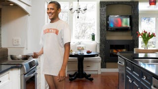 Illustration for article titled Obama Up Early Cooking Breakfast In One Of Michelle's Extra Long T-Shirts