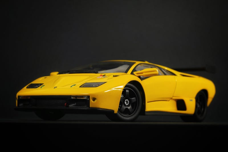 Illustration for article titled Lamborghini Diablo GTR in 1:18 scale by Hot Wheels