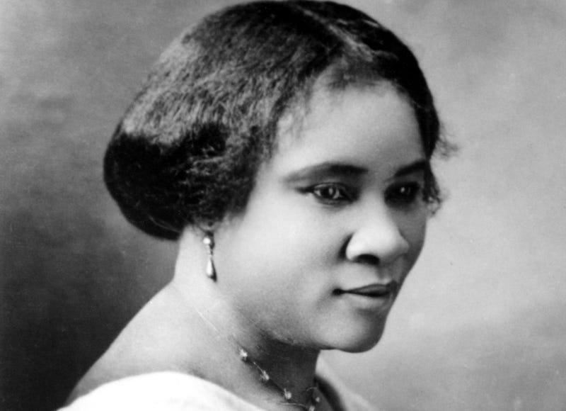 Madam C.J. Walker (Sarah Breedlove), the first female self-made millionaire in the world, poses for a portrait circa 1914.