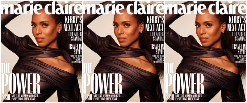 Illustration for article titled Still Powerful,Post-Scandal: Kerry Washington Covers Marie Claire's Power Issue