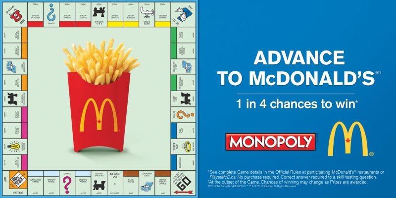 Illustration for article titled Cómo McDonalds regaló 15 millones de dólares a clientes al azar que entraban en sus establecimientos por culpa del Monopoly
