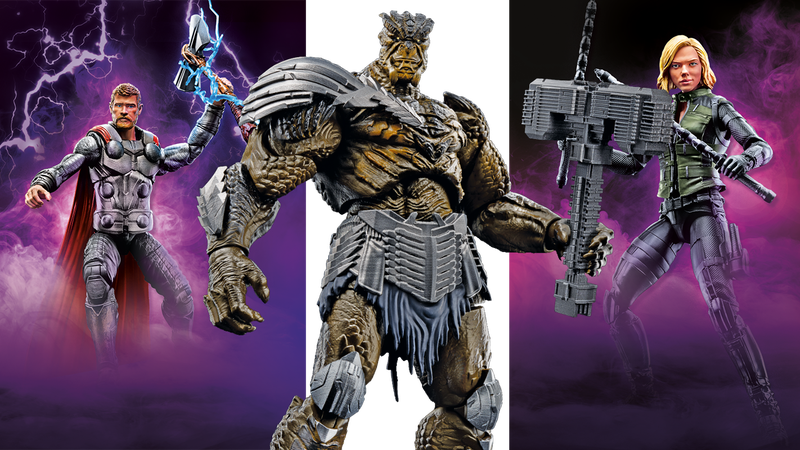 Welcome Axe Thor, Blonde Black Widow and Cull Obsidian to the Marvel Legends line-up.