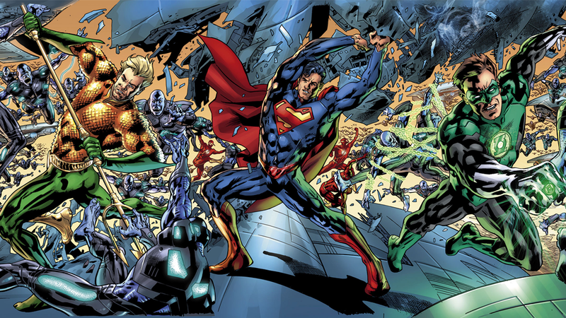 """Illustration for article titled See The JLA In Action In This Incredible """"Widevision"""" Comic Cover"""
